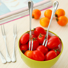 new designed stainless steel fruit fork two tine fork salad servers