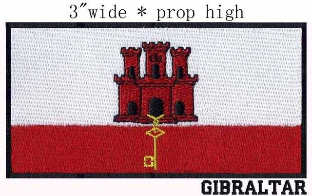 Gibilterra Bandiera 3 Wide Zona Del Ricamo Per Entusiasmocastello
