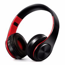 HIFI stereo earphones bluetooth headphone music headset FM and support SD card with mic for mobile xiaomi iphone sumsamg tablet(China)