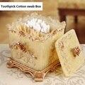 Европейский стиль держатель зубочисток  контейнер  домашняя настольная коробка для хранения зубочисток Диспенсер Для Зубочисток