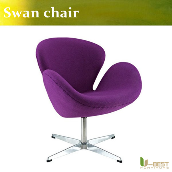 u best leisure arne jacobsen egg chair in red wool aluminum egg pod chair for the lobby and reception areas of the royal hotel U-BEST  Top rated Arne Jacobsen swan chair in hotel,Replica designer furniture