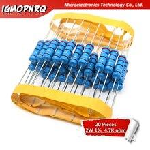 20pcs 2W Metal film resistor resistance 1% 2W-4.7K 4.7Kohm
