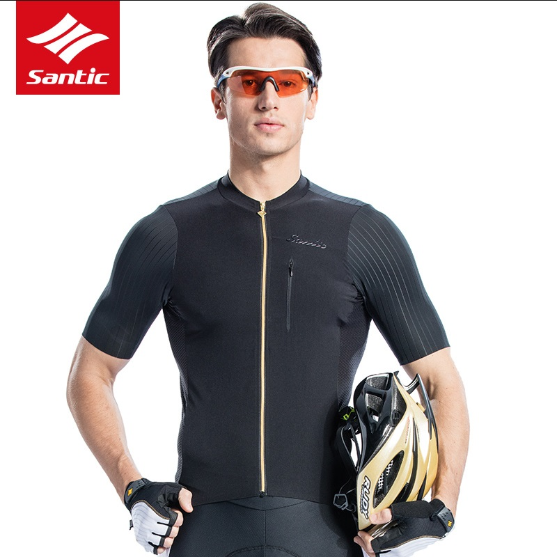 Santic cycling jersey 2018 New mens PRO Team bike short Sleeve Cycling Clothings High Elasticity Summer Breathable Dry ciclismo