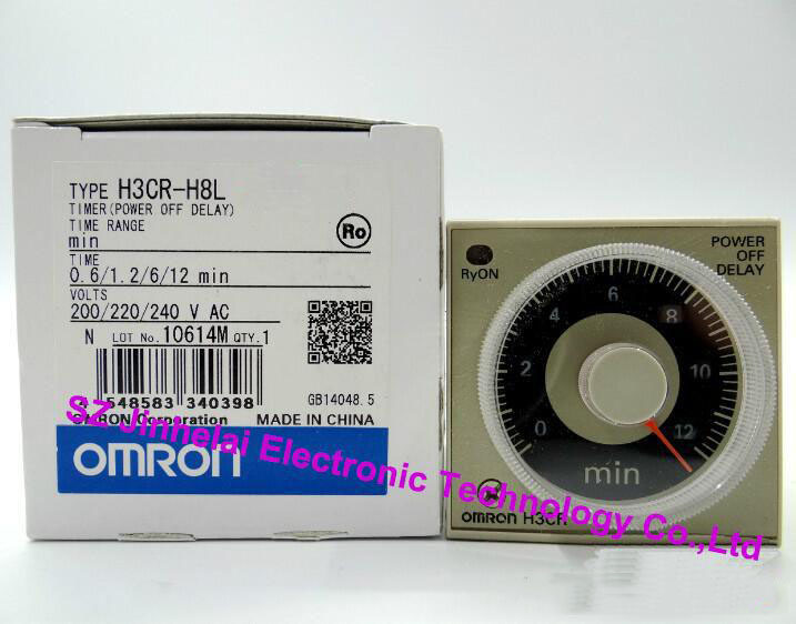 100% Authentic original H3CR-H8L OMRON POWER OFF DELAY TIMER S/M dhl ems 2 lots omron automation h3bg n8h 100 120vac time delay