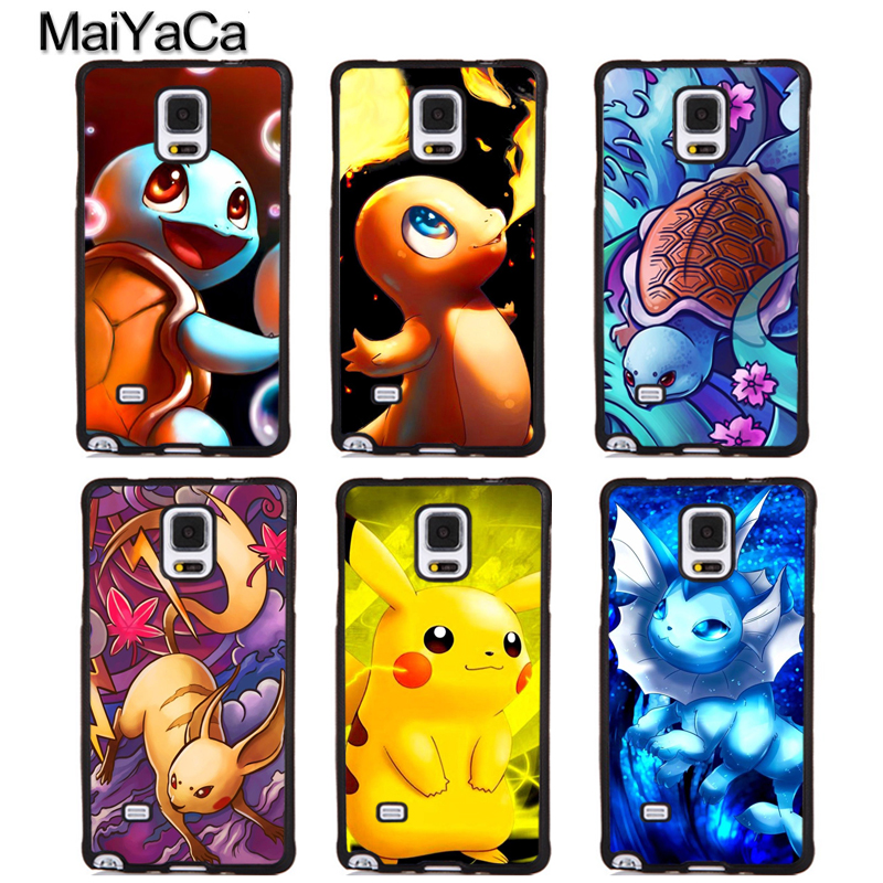 MaiYaCa Charizard Squirtle Vaporeon Pokemons Phone Cases For Samsung Galaxy S5 S6 S7 edge Plus S8 S9 plus Note 4 5 8 Cover Shell