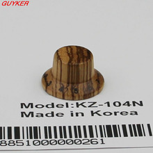 PK-KZ104 Zebra Wood Strat Style Bell Knobs for Guitar/Bass 1-10 Press Fit(China)
