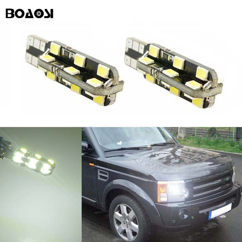 2x T10 LED Error Free Eyebrow Eyelid Light Bulb For Land Rover v8 discovery 4 2 3 x8 freelander 2 defender A8 a9