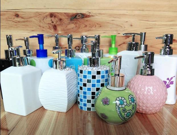 Ceramic Emulsion Liquid Empty Bottle  Soap Dispenser Hotel Bathroom Accessories High Grade Shampoo Packaging Bottles 630ML