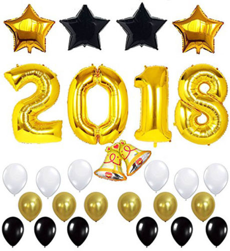 2018 party balloons set gold foil latex balloon new year eve assrtd decoration in ballons accessories from home garden on aliexpresscom alibaba group