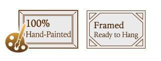 бесплатная доставка / рамки - ручная роспись африканского животных зебры группа картина маслом на холсте / высокое качество Ф / 007