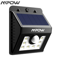 Mpow 8 LED Solar Motion Sensor Lights 3 In 1 Waterproof Solar Energy Powered Security Light