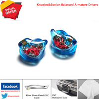Hisenior T6 12Units Balanced Armature CIEM Custom Fit In Ear Monitor Noise Cancelling Earphone DHL/FEDEX Free Shipping