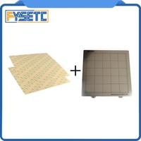 300 × 300 ミリメートル春鋼板熱ベッドプラットフォーム 3D プリンタ印刷構築プレート + 2 個 PEI シート TEVO ためトルネード Lulzbot Taz6 3Dプリンタパーツ & アクセサリ パソコン & オフィス -