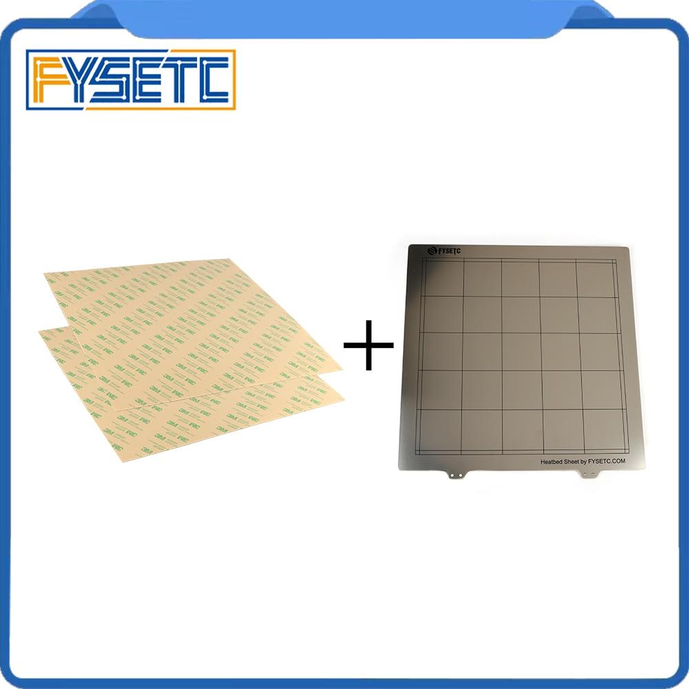 300x300mm Frühling Stahl Blatt Wärme Bett Plattform 3D Drucker Druck Bauen Platte + 2 stücke PEI Blatt für TEVO Tornado Lulzbot Taz6
