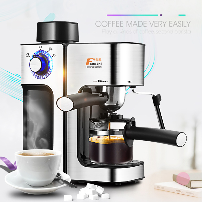 0.24L 5 Cups Electric Coffee Maker / Milk Foam Maker Office Espresso Italian Style Automatic Insulation Electric Coffee Machine