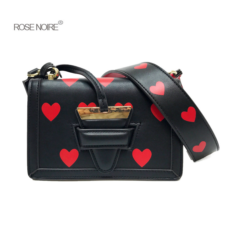 Black Velvet Red Heart Embroidery Wide Strap Women Shoulder Bags Crossbody Bags for Women 2018 Messenger Bags for Ladies gg bag покрывало на диван les gobelins mexique 160 х 200 см