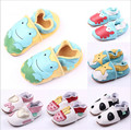 2015 Lovely Cartoon Genuine Leather Baby Boys Girls Shoes Soft Sole Infants Toddlers First Walkers