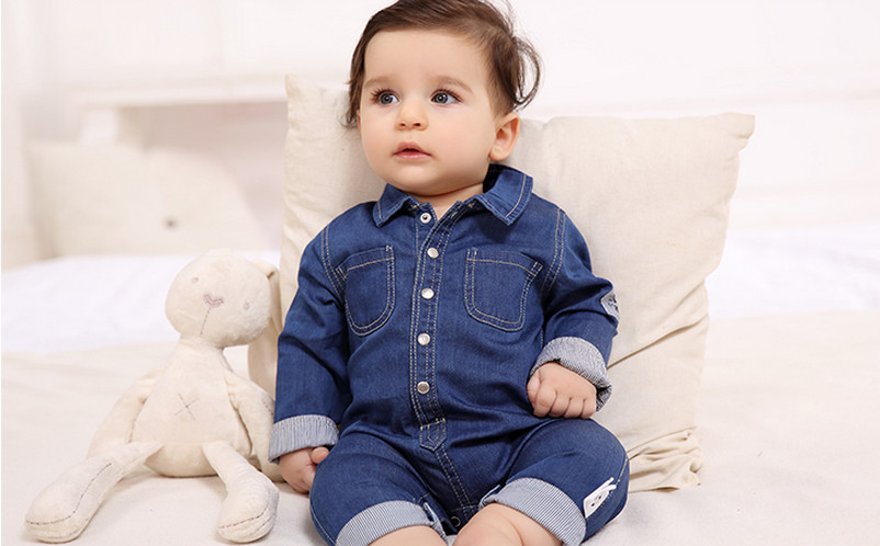 High Quality Baby Girl Boys Denim Rompers Summer Newborn Infant Clothes Toddler Casual Jumpsuit Children Jeans Overalls Roupas summer cotton baby rompers boys infant toddler jumpsuit princess pink bow lace baby girl clothing newborn bebe overall clothes