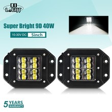 """CO LICHT Super Heldere 9D 80W Led Verlichting 12V 5 """"Flood Driving Beam Strobe Led Licht bar 24V DRL voor Vrachtwagens 4x4 ATV Mistlamp"""