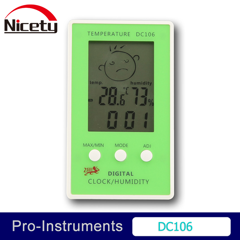 DC105 High Accuracy Digital LCD Thermometer Hygrometer Indoors Outdoors Testers