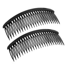 HOT New Practical Black Plastic 24 Teeth Hair Comb Clip Clamp 2 Pcs for Lady Girls