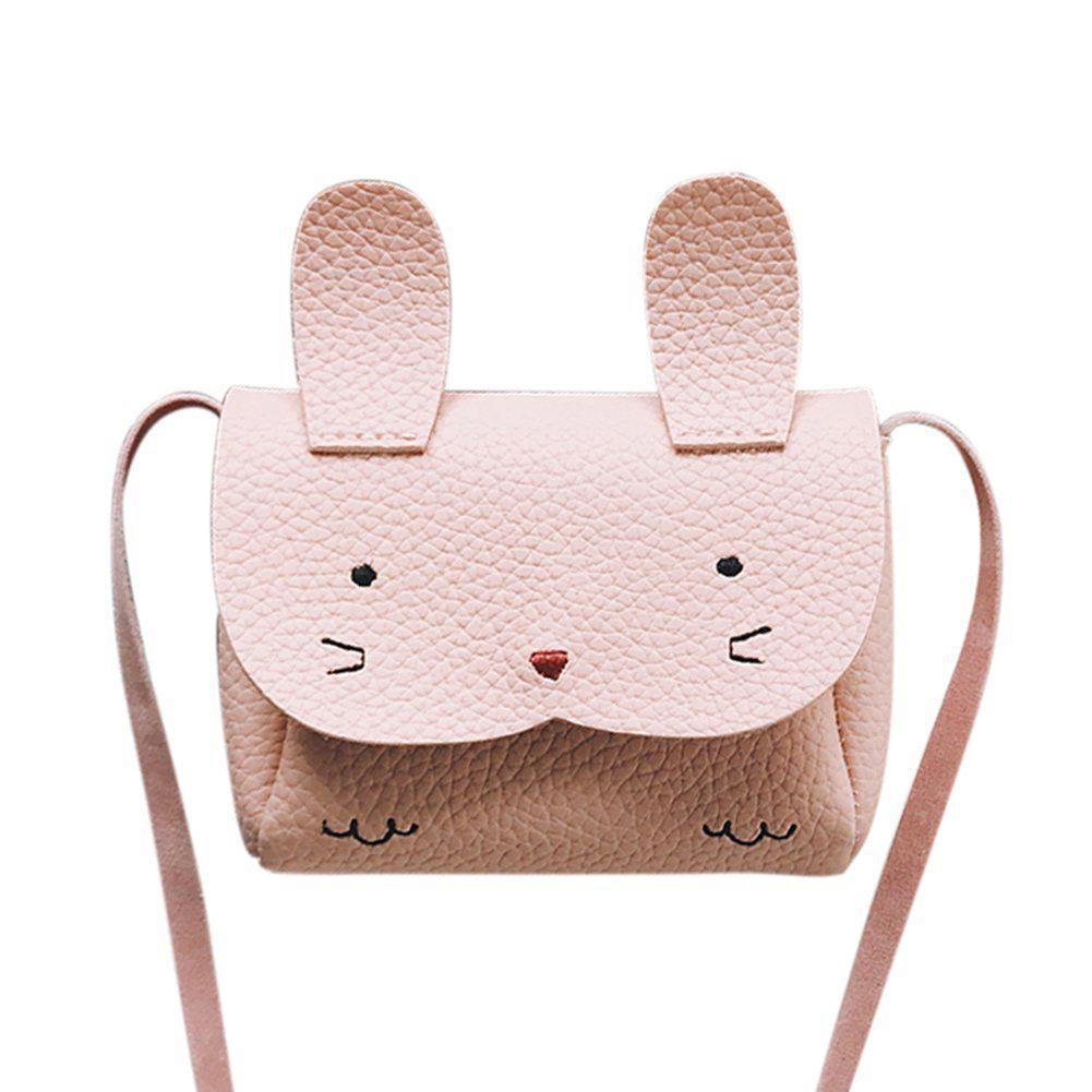 LJL Mini Shoulder Bag Children Messenger Bag Bebe Girls Handbag Cute Rabbit Shoulder Crossbody Bag