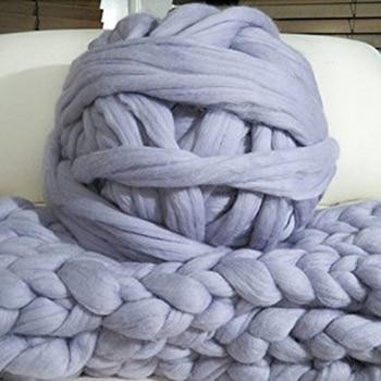 500g Diy Hand Stricken Häkeln Hut Schal Stricken Chunky Wolle Roving