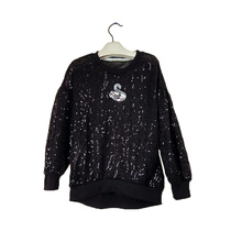 Girls Fahion Sequins Spring New Children Handmade Swan Beads Long Sleeve Knitted T-shirts