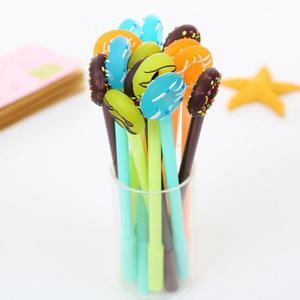 Image 5 - Jonvon Satone 50 adet sevimli kalem tatlı şeker halkası nötr kalem plastik yazma kalemler toptan kırtasiye Kawaii okul malzemeleri