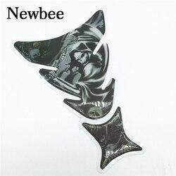Newbee 3D мотоцикл наклейка газовое масло Топливный бак Pad протектор череп гоночный автомобиль наклейка для Yamaha Honda Suzuki Kawasaki BMW Ninja