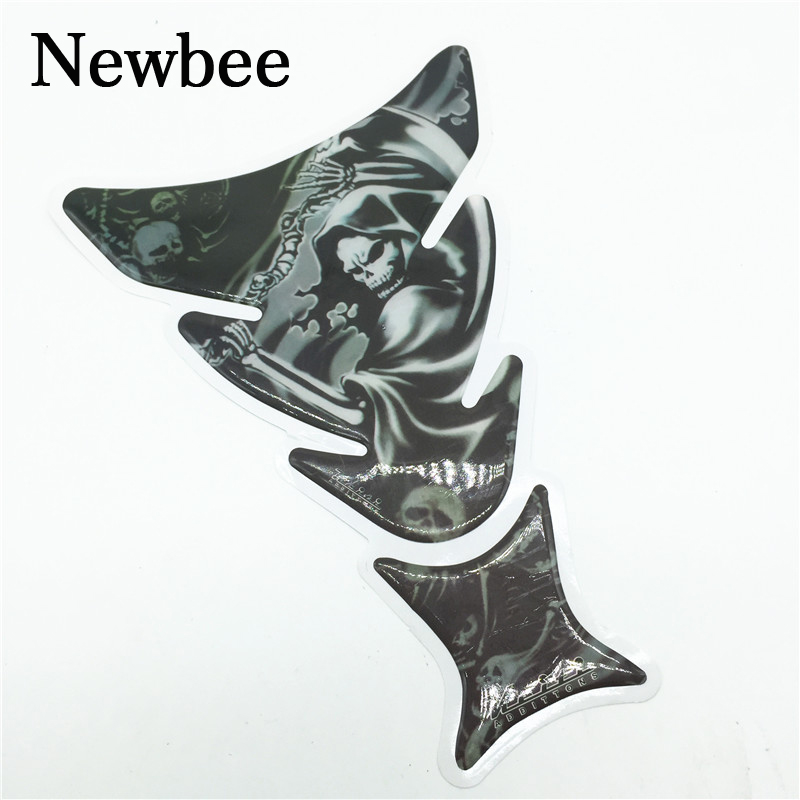 Newbee Skull Racing Car Sticker For Yamaha Honda Suzuki Kawasaki BMW Ninja