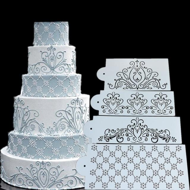 stencil taart Prinses Kant Taart Stencil Set, Cake Craft Stencils, Cake Grens  stencil taart