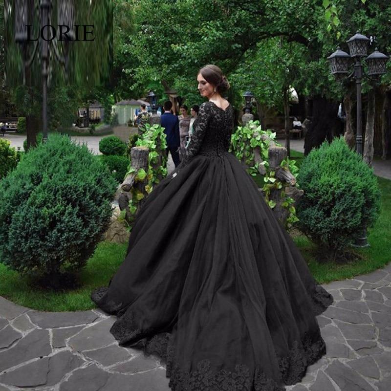 2017 Vintage Lace Black Wedding Dresses Vestidos De Novia Scoop Neck ...