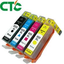 цена на 4 PACK 655 655xl Ink Cartridge For currency Deskjet Ink Advantage 3525 4615 4625 5525 6525