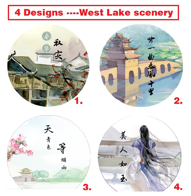 2016 New 20MM*10M West Lake Scenery Pattern Japanese Washi Decorative Adhesive Tape DIY Masking Paper Tape Label Sticker Gifts 1roll 30mmx7m high quality feather pattern japanese washi decorative adhesive diy masking paper tape label sticker wholesale