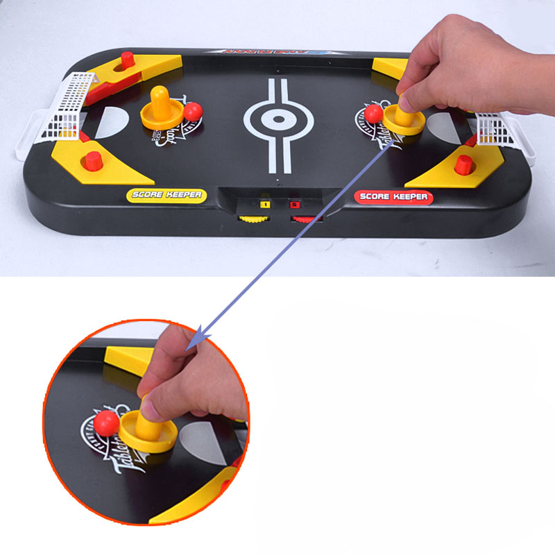 2 In 1 Mini Hockey Soccer Game Arcade Style Ice Hockey Table Play Family Interactive Sports Kids Fun Toy Gifts 88 S7JN