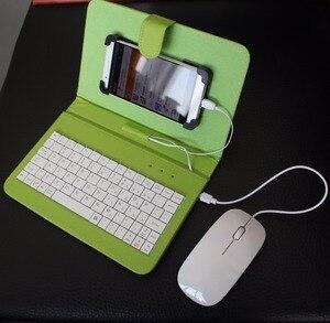 Чехол с откидной крышкой, аксессуары для смартфонов, проводная клавиатура, чехол для мыши, наборы Android, мобильный телефон, подставка для клав...