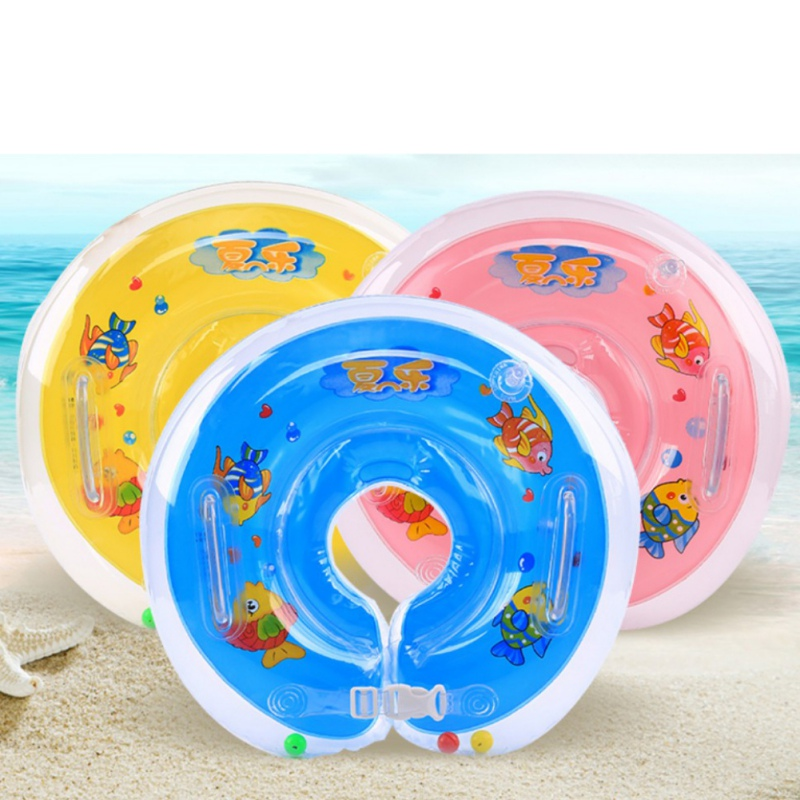 Kids Baby Pool Accessories Inflatable Ring Adjustable Baby Float Safety Aids Kid Swimming Circle Bathing Baby Float Neck Circles