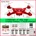 SYMA X5UW x5UC RC Drone 720P WIFI FPV Camera Helicopter Height Hold One Key Land 2.4G 4CH 6Axis RC Quadcopte with 5batteries
