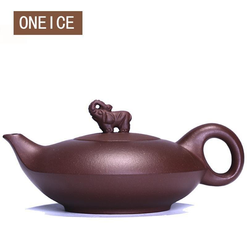 Purple Clay Purple  Elephant Pot Yixing Teapot Pure Hand HandmadePurple Clay Purple  Elephant Pot Yixing Teapot Pure Hand Handmade