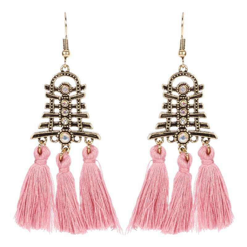 Find Me 2018 Fashion luxury Vintage Ethnic Drop Earrings for Women Boho big beads Long tassels Earrings Brand Jewelry wholesale