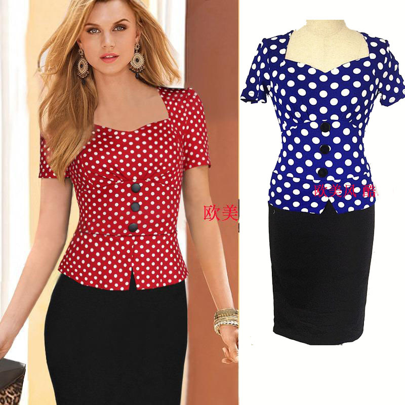 Online Get Cheap Plus Size Red Polka Dot Dress -Aliexpress.com ...