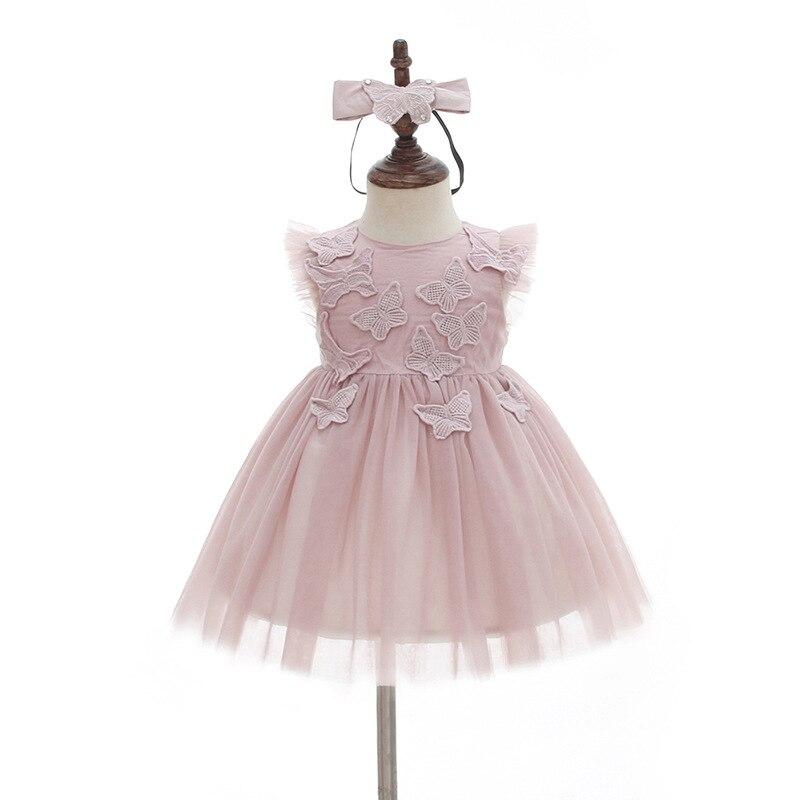 BBWOWLIN Baby Girl Dress with Headwear Christmas Clothes Cute Cartoon Butterfly Dress Baby 1 Year Girl Baby Birthday Dress 033|Dresses| |  - title=