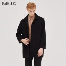 Мужская длинная теплая куртка и пальто от Markless jaqueta masculina, зимнее толстое пальто для мужчин chaqueta hombre WTA8157M