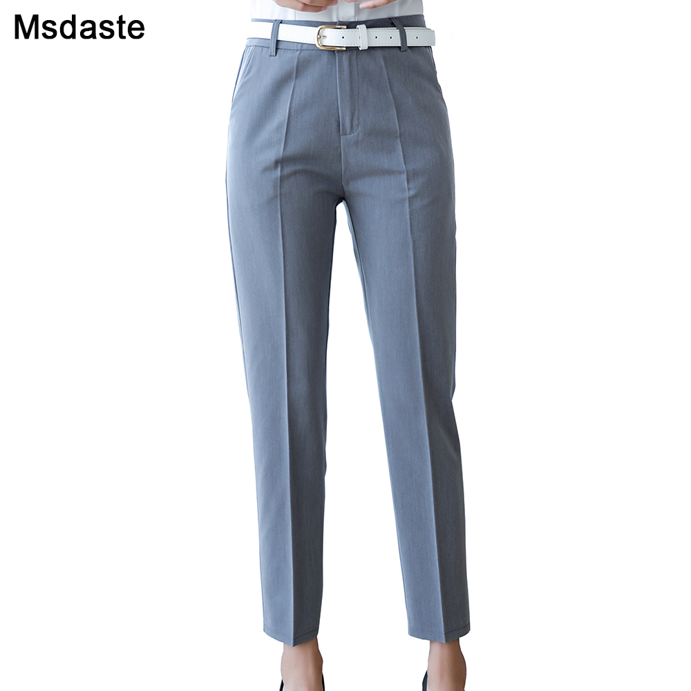 Office Lady Pencil Pants Women Autumn Spring Summer Casual Pantalon Femme Korean Style Slim Straight Leg Pant Womens Trousers