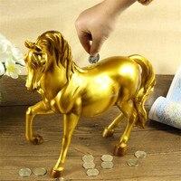 Resin Horse Piggy Bank Safe Cute Gift Home Decoration Cash Coin Bank Creative Wedding Money Storage Box Saving Moneybox Statues