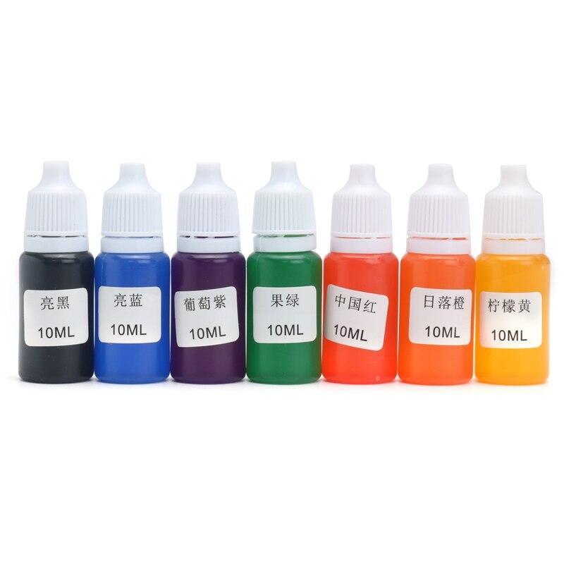 Diy Craft Supplies 2019 Latest Design Kiwarm 7pcs 10ml 7 Colors High Quality Resin Pigment Diy Snow Mud Styrofoam Slime Kit Educational Toys Gift Diy Diy Craft Supply