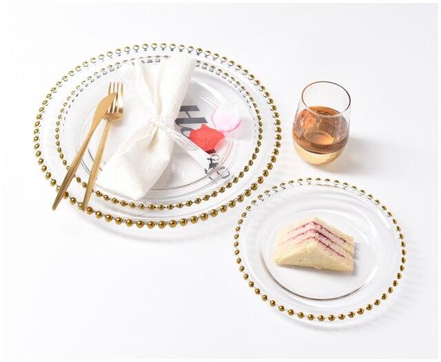HTB1I6AbLhnaK1RjSZFBq6AW7VXao.jpg 640x640 - dinnerware - Nordic Gold Bead Glass  Wedding Plates