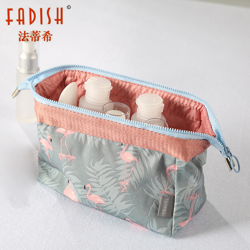 FADISH Cosmetic Bag Travel Floral Printes