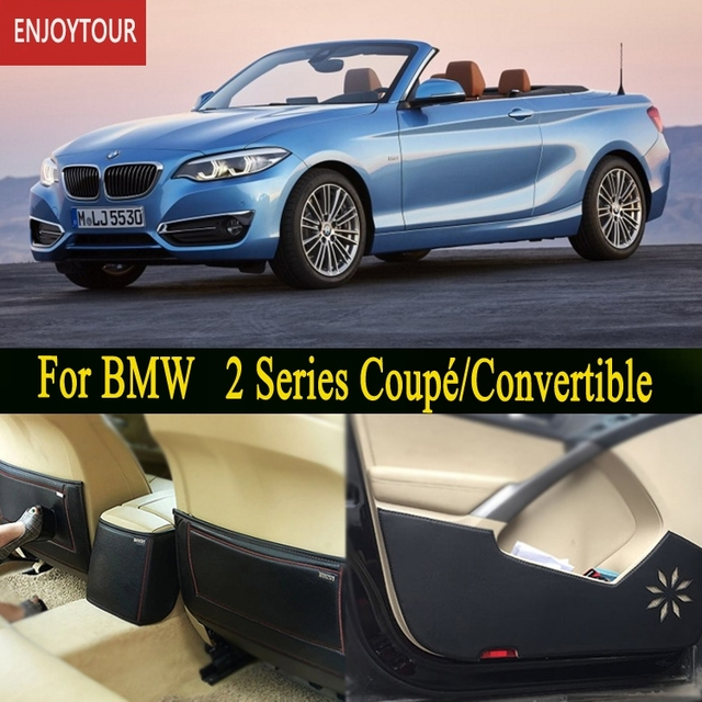 Car Pads Front Rear Door Seat Anti Kick Mat Styling Accessories For Bmw
